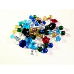 50g bunter Kristallglas Perlenmix - buntes Schmuckzubehör Glasschmuck