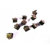 10x bronze Bandklemme 6mm bronzefarben - bronze Schmuckzubehör