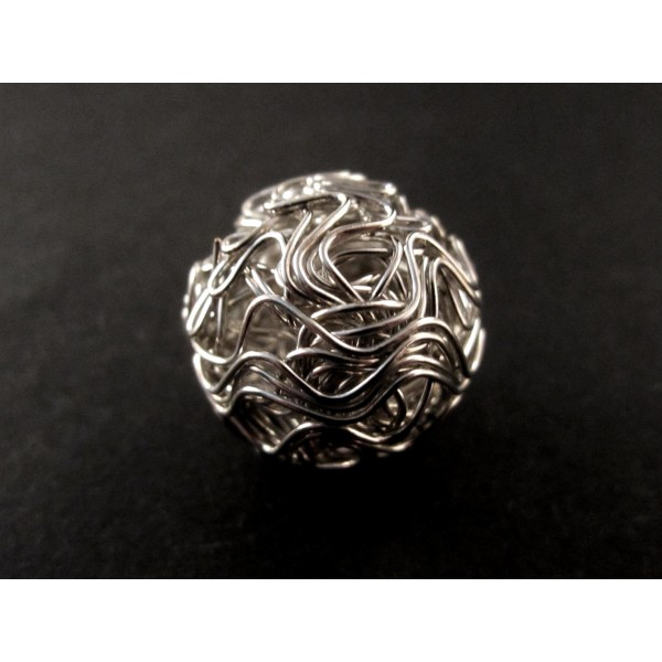 20mm silber Draht Metallperle Spacer - Schmuckzubehör Metallperle