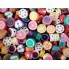 20x 10mm Polymer Clay Obst Perlen im bunten Mix - Polymer Clay Schmuckzubehör