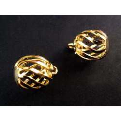2x vergoldete Spirale als runder Anhänger ca. 14x10mm gold Schmuckanhänger - Schmuckzubehör Anhänger