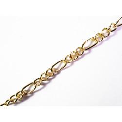 50cm vergoldete Kette 2x5mm gold Gliederkette - Schmuckzubehör