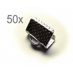50x silber Bandklemme 10mm silberfarbene Bandklemmen - Schmuckzubehör