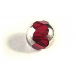 1x 14mm Siam Rote geschliffene Kristallglasperle - Schmuckzubehör Kristallglasperlen