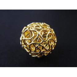 1x große vergoldete 18mm Draht Metallperle goldfarbene Drahtperle Spacer - Schmuckzubehör Metallperle