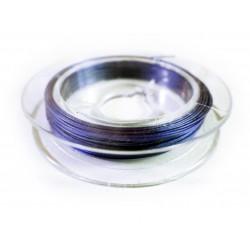 10m dunkelblauer Schmuckdraht 0,3mm nylonummantelt - Schmuckzubehör