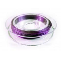 10m lila / violetter Schmuckdraht 0,3mm nylonummantelt - Schmuckzubehör