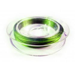 10m neongrüner Schmuckdraht 0,3mm nylonummantelt - Schmuckzubehör