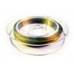 10m Schmuckdraht goldfarben 0,3mm - Schmuckztubehör Schmuckdraht