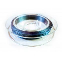 10m mittelblauer Schmuckdraht 0,3mm nylonummantelt - Schmuckzubehör