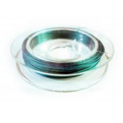 10m türkiser Schmuckdraht 0,3mm nylonummantelt - Schmuckzubehör