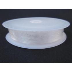 15m Elastischer Nylondraht 0,5mm Rolle transparente Perlenschnur - Schmuckzubehör