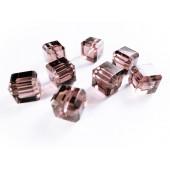 8x amethyst Kristallglas Würfel Perlen mit geschliffener Kante 10x10mm - Glasschmuck Schmuckzubehör