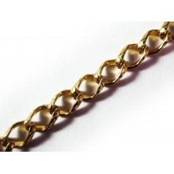 1m gold Kette 11x7mm goldfarbene Gliederkette große Glieder - Schmuckzubehör
