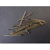 30 bronze Nietstifte 30mm bronzefarbener Schmuckdraht mit Kopf - bronze Schmuckzubehör