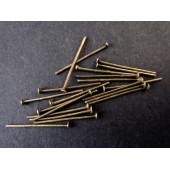 30 bronze Nietstifte 20mm bronzefarbener Schmuckdraht mit Kopf - bronze Schmuckzubehör