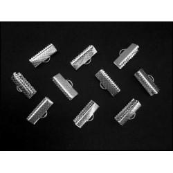 10x silber Bandklemme 16mm silberfarbene Bandklemmen - Schmuckzubehör