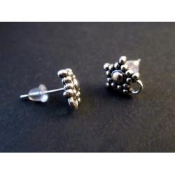 6 Stück / 3 Paar filigrane Ohrstecker mit Öse Durchmesser ca. 9mm - Schmuckzubehör zum Ohrringe selbermachen