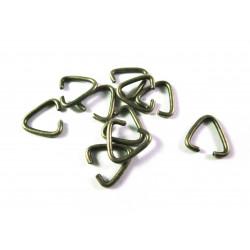10x bronze Collierschlaufe 10x9mm Anhängerhaken - bronze Schmuckzubehör