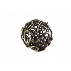 1x große bronze 18mm Draht Metallperle bronzefarbene Drahtperle Spacer - Schmuckzubehör Metallperle