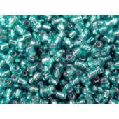 16g smaragdgrüne Rocailles 2mm (12/0) Silbereinzug - Schmuckzubehör Rocailles