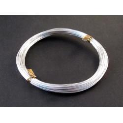 10m Aluminium Draht hellsilberfarben Dicke 0,8mm Schmuckdraht - Schmuckzubehör Schmuckdraht
