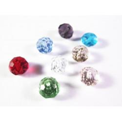 8 St. 8x6mm geschliffene Kristallglasperlen bunter Perlenmix - buntes Schmuckzubehör