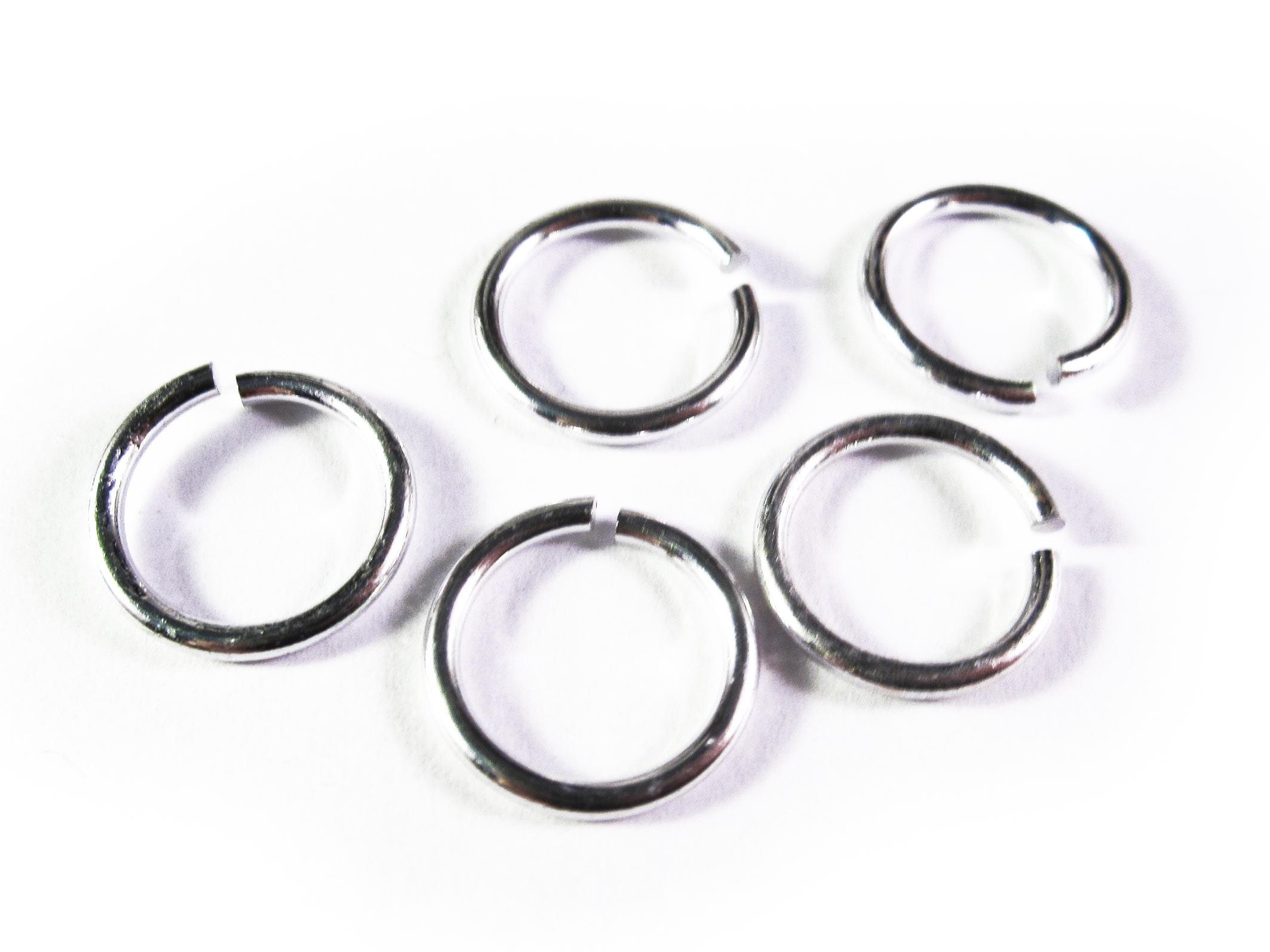 10x Diy Leer : Biegering mm aluminium rund platinfarben hellsilberfarben