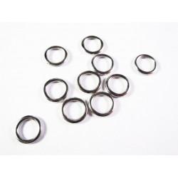 10x geschlossener Ring 12x1mm versilbert rund in hellsilberfarben - Schmuckzubehör