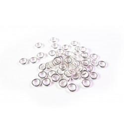 50x geschlossener Ring 4x0,8mm versilbert rund in hellsilberfarben - Schmuckzubehör