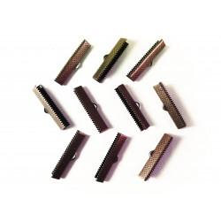10x kupfer Bandklemme 35mm kupferfarben - kupfer Schmuckzubehör
