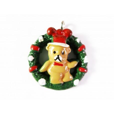 Teddy Bär Weihnachts Anhänger 25x21mm Resin Schmuckanhänger - Schmuckzubehör