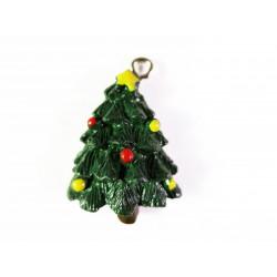 1x Weihnachtsbaum Weihnachts Anhänger ca. 28x18mm Resin Schmuckanhänger - Schmuckzubehör