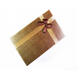 1x dunkelgold Schmuckschachtel ca. 80x50x26mm - Schmuckzubehör Schmuckverpackung