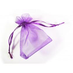 1x lila Organzasäckchen ca. 9x7cm violetter Organzabeutel - Schmuckzubehör Schmuckverpackung