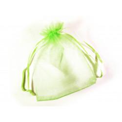1x hellgrünes Organzasäckchen ca. 12x9cm hellgrüner Organzabeutel - Schmuckzubehör Schmuckverpackung