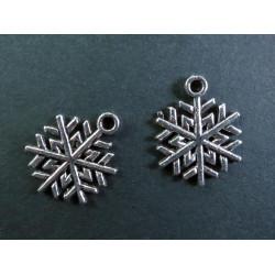 2x silber Schneeflocke 1 ca. 20x18mm silber Schmuckanhänger - Schmuckzubehör Weihnachten
