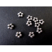 10x Daisyspacer 5mm silber Metallperlen Spacer - Schmuckzubehör Metallperle