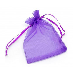 1x lila Organzasäckchen ca. 12x9cm violetter Organzabeutel - Schmuckzubehör Schmuckverpackung
