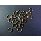 20x stabiler bronze Biegering 8mm rund bronzefarben - bronze Schmucktzubehör
