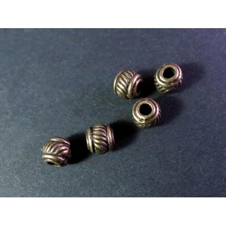5x bronze Metallperlen 5x5mm bronze Spacer - Schmuckzubehör bronze Metallperle
