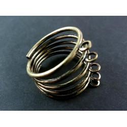 1x bronze Rohling für Fingerring mit 5 Ringen Schmuckdraht bronzefarben - Schmuckzubehör für Fingerringe