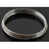 10x Ringe silber Spiraldraht ca. 40mm silberfarben - Schmuckzubehör