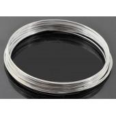 10x Ringe hellsilber Spiraldraht ca. 60mm platinfarben - Schmuckzubehör