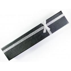 1x schmale schwarze Schmuckschachtel ca. 210x40x20mm - Schmuckzubehör Schmuckverpackung