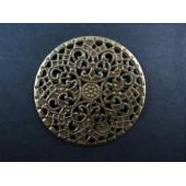 1x filigranes bronze Ornament 41mm Aufnäher Streudeko - bronze Bastelbedarf