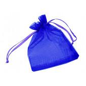 1x dunkelblau Organzasäckchen ca. 12x9cm blauer Organzabeutel - Schmuckzubehör Schmuckverpackung