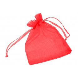 1x rot Organzasäckchen ca. 12x9cm roter Organzabeutel - Schmuckzubehör Schmuckverpackung