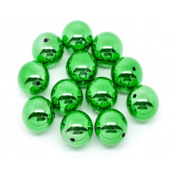 1x große grüne Acryl Perle 20mm glatt - Schmuckzubehör