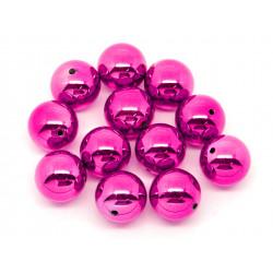 1x große pink Acryl Perle 20mm glatt - Schmuckzubehör